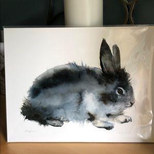 Watercolor Rabbit Print Original Artwork